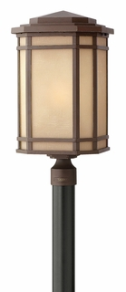 1271OZ-GU24 Hinkley Cherry Creek Oil Rubbed Bronze 120v GU24 1 Light Post Outdoor