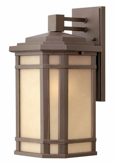 1274OZ-GU24 Hinkley Cherry Creek Oil Rubbed Bronze 120v GU24 1 Light Medium Outdoor Wall Mount