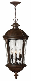 1892RK Hinkley Windsor River Rock 120v Candelabra 4 Light Hanging Outdoor Fixture