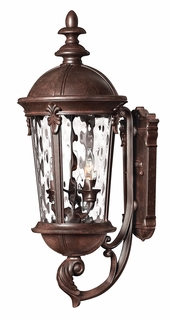 1894RK Hinkley Windsor River Rock 120v Candelabra 3 Light Medium Outdoor Wall Mount