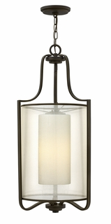 4962OB Hinkley Prescott Olde Bronze 120v 3 Light Foyer Foyer