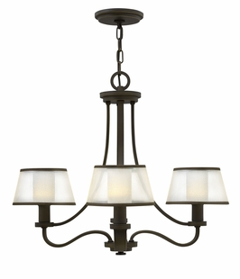 4964OB Hinkley Prescott Olde Bronze 120v Candelabra 4 Light Chandelier