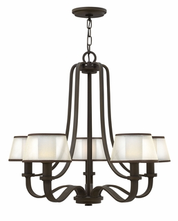 4965OB Hinkley Prescott Olde Bronze 120v Candelabra 5 Light Chandelier