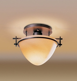 12-4247 Hubbardton Forge Wrought Iron Semi-Flush Moonband