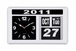 10132 Zuo Modern Retro Auto Flip Clock With Month, Day, And Year White