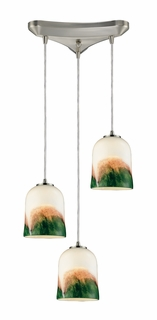 10219/3WE Elk 3- Light Pendant in Satin Nickel (DISCONTINUED ITEM)