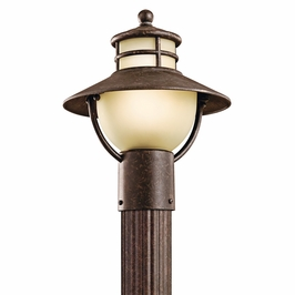 49036AGZ Kichler Outdoor Post  Mount 1 Light Incan (DISCONTINUED ITEM!)