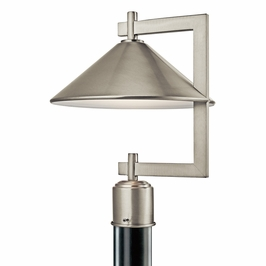 49063NI Kichler Lodge-Country-Rustic-Garden Ripley 1 Light Outdoor Post Mt (DISCONTINUED ITEM!)