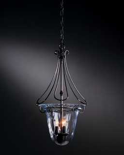 12-1002 Hubbardton Forge Foyer Wrought Iron Pendant