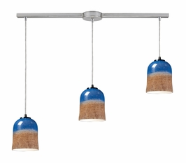 10219/3L-DS Elk 3- Light Pendant in Satin Nickel (DISCONTINUED ITEM)