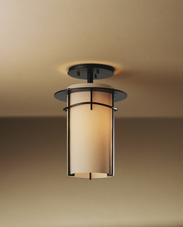 12-3771 Hubbardton Forge Wrought Iron Exos Pasadena Semi flush