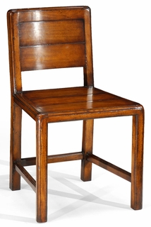 492158 Jonathan Charles Casual Walnut Low Back Side Chair