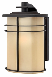 1120MR Hinkley Ledgewood Museum Bronze 120v 1 Light Small Outdoor Wall Lantern