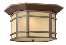 1273OZ Hinkley Cherry Creek Oil Rubbed Bronze 120v 2 Light Flush Outdoor