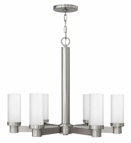 4976BN Hinkley Midtown Brushed Nickel 120v 6 Light Chandelier