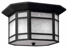 1273VK Hinkley Cherry Creek Vintage Black 120v 2 Light Outdoor Flush Mount