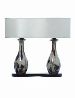 1031-C08-TL01 Thumprints Lighting Jack Multicolored Dual Glass Table Lamp