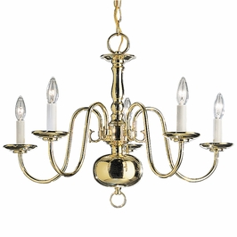 1701PB-R Kichler Lighting Olde Georgetown Chandelier in Polished Brass (DISCONTINUED ITEM!)