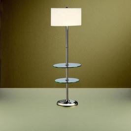 74107 Kichler Lighting Urban Traditions Glass Tray Floor Lamp with Tray in Brushed Nickel (DISCONTINUED ITEM!)