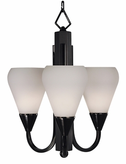 1274 Framburg Lighting Aurora 3 Light Mini Chandelier