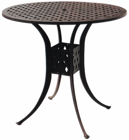 "DL30-F Darlee 42"" Round Bar Patio Table in Cast-Aluminum with an Antique Bronze Finish"
