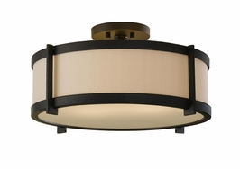 SF272ORB Murray Feiss Stelle 2 Light Indoor Semi Flush Mount in Oil Rubbed Bronze Finish