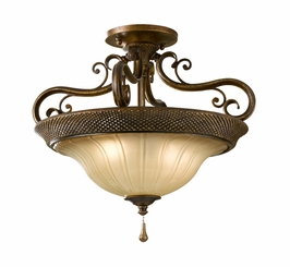 SF278FSV Murray Feiss Celine 2 Light Indoor Semi Flush Mount in Firenze Silver Finish