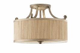 SF293SVSD Murray Feiss Abbey 3 Light Indoor Semi Flush Mount in Silver Sand Finish