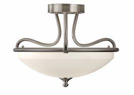 SF295BS Murray Feiss Merritt 2 Light Indoor Semi Flush Mount in Brushed Steel Finish