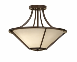 SF296HTBZ Murray Feiss Nolan 3 Light Indoor Semi Flush Mount in Heritage Bronze Finish