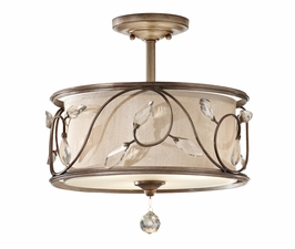 SF300ARS Murray Feiss Priscilla 3 Light Indoor Semi Flush Mount in Arctic Silver Finish