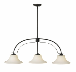F2248/3ORB Murray Feiss Barrington 3 Light Island Chandelier in Oil Rubbed Bronze Finish
