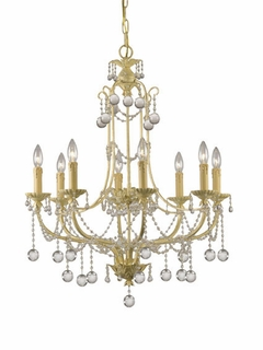 4608-CM Crystorama Lena 8 Light Lena Chandelier Adorned with Clear Murano Crystal