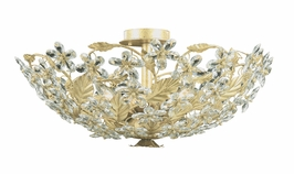 4604-CM Crystorama Primrose Paris Flea Market Flush Mount In Champagne Adorned with Swarovski Spectra Crystal