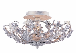4600-AW Crystorama Primrose Antique White Swarovski Spectra Ceiling Mount