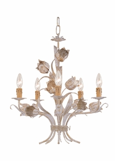 C4815-AW Crystorama Lighting Southport Handpainted Wrought Iron Chandelier