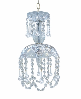 4501-CH-CLEAR Crystorama Traditional Crystal Mini Chandelier