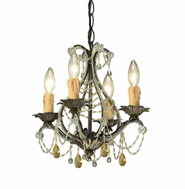 4714-BI Crystorama Abigail Mini Chandelier Adorned with Light Topaz Swarovski Strass Crystal