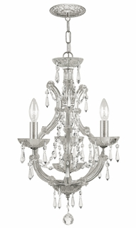 4473-OS-SS-MWP Crystorama Maria Theresa Dual Mount Draped In Hand Cut Crystal Semi Flush Or Mini Chandelier Application
