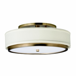 10806CP Kichler Marbrisa 1Lt Fluorescent Flush Mount (DISCONTINUED ITEM!)