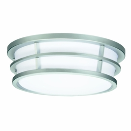 10869SI Kichler Silver Various Ceiling Mt 2Lt Fluorescent Ceiling Lights (DISCONTINUED ITEM!)