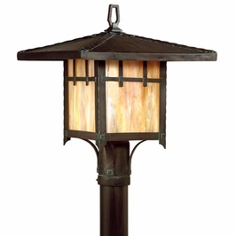 PF9406 Troy Lighting Oak Knoll Fluorescent Outdoor Post Light
