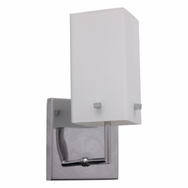 BV961-5-15 Alico Cubico 120V sconce with Light Frosted glass and Chrome finish