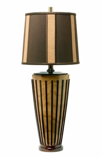 1036-C06-TL03 Thumprints Java Table Lamp
