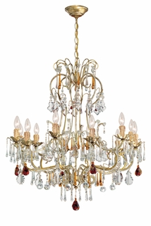 C4722-GL Crystorama Lighting Venice Amber Colored Crystal Chandelier