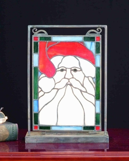 65250 Meyda Tiffany Holiday Santa Head Mini & Display Mini Window