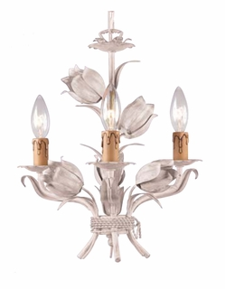 C4813-AW Crystorama Lighting Southport Handpainted Wrought Iron Wall Sconce