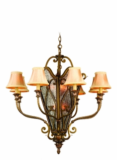 C48-48 Corbett Lighting Astor Eight + Six Light Hanging Lantern in French Bronze Finish