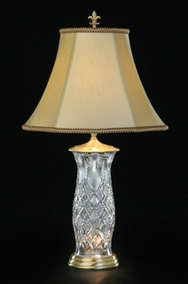 140-525-33-00 Waterford Lighting Crystal Dublin Bay Lighthouse Table Lamp With Limited Edition