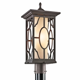 49042AZ Kichler Architectural Bronze Outdoor Post Mount 1Lt Mackenzie Outdoor (DISCONTINUED ITEM!)